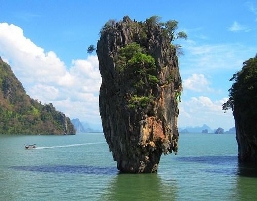 ocean,rock,rock formation,thailand