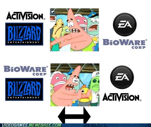 activision,BioWare,blizzard,EA,pushing patrick,the feels