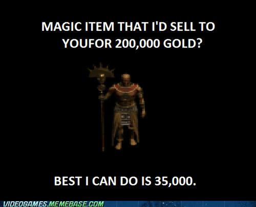 blizzard diablo diablo 2 gold merchant selling