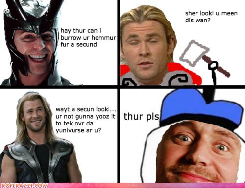 chris hemsworth comic funny Hall of Fame meme Movie summer blockbusters The Avengers tom hiddleston uncle dolan - 6217440256