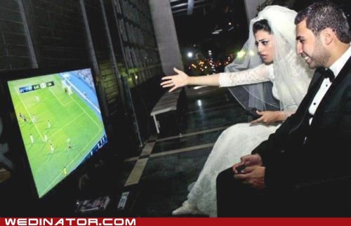 bride funyn wedding photos groom soccer - 6217456128