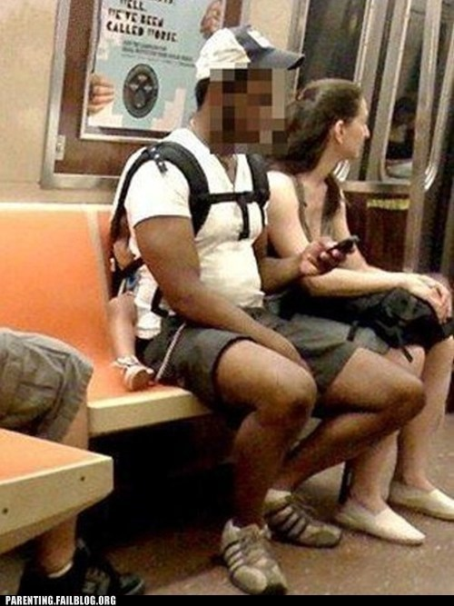 baby,backpack,Bad Dad,Subway