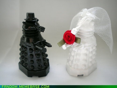 bbc dalek doctor who It Came From the Interwebz TV wedding - 6217481216