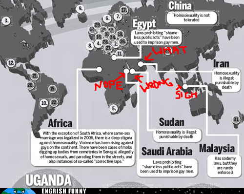 africa antarctica barack obama China egypt gay marriage geography indonesia iran malaysia map Saudi Arabia Sudan sun media uganda - 6217494016