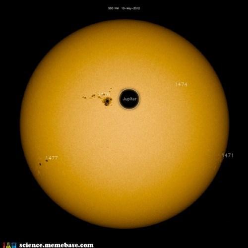 Astronomy huge jupiter sun sun spots - 6217504256