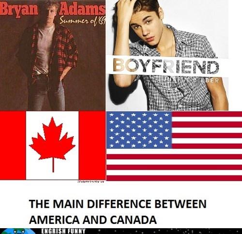 america,Canada,justin bieber
