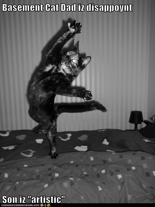 artistic arts basement cat dance disappoint Sad sigh theatre