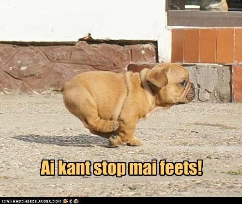 Ai kant stop mai feets!