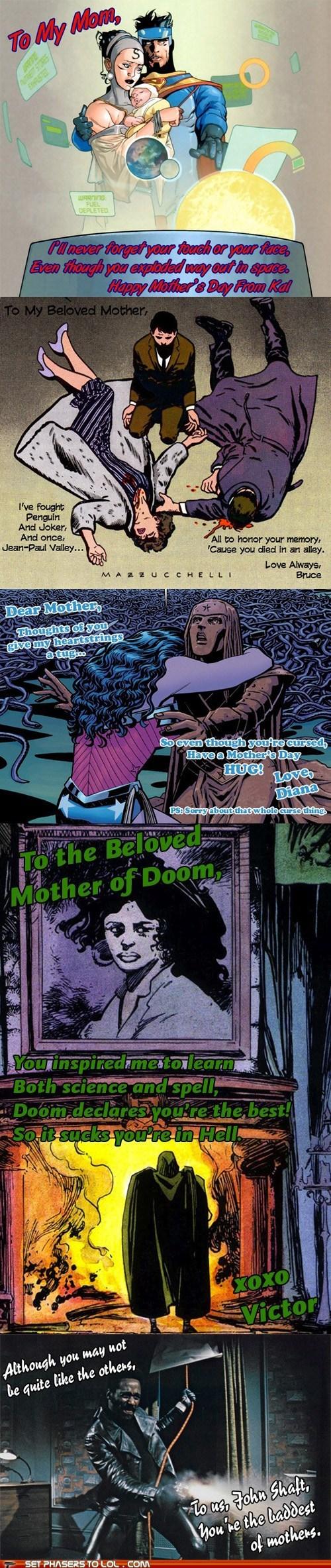 batman best of the week bruce wayne cards dr doom happy-mothers-day shaft superheroes superman wonder woman - 6218193664