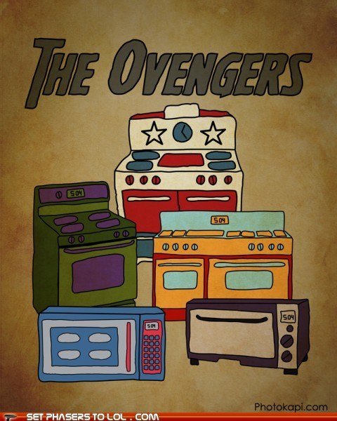appliances,avengers,Fan Art,microwaves,oven,ovens,puns,superheroes