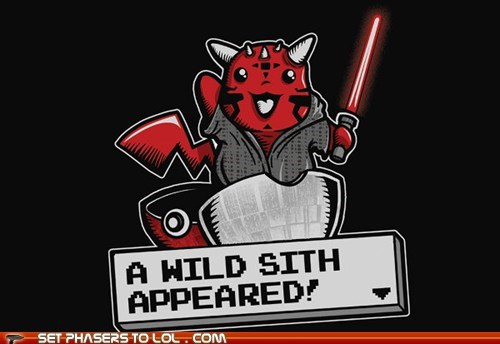 appears,darth maul,lightsaber,Pokémon,sith,star wars,wild