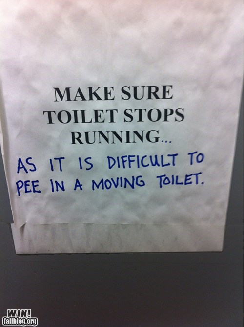 literal pun sign toilet - 6218562304