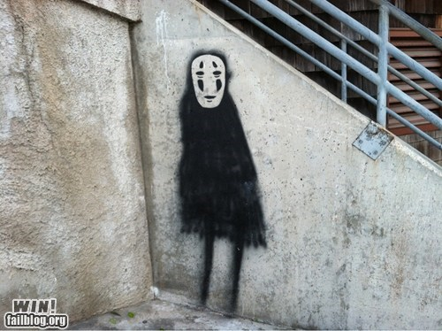graffiti hacked irl spirited away Street Art