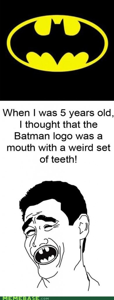 eww batman symbol teeth - 6218824704