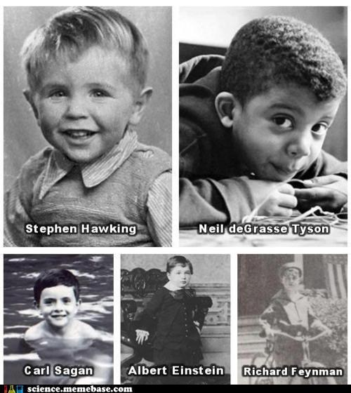 albert einstein,baby photos,carl sagan,Neil deGrasse Tyson,Professors,richard fenyman,stephen hawking