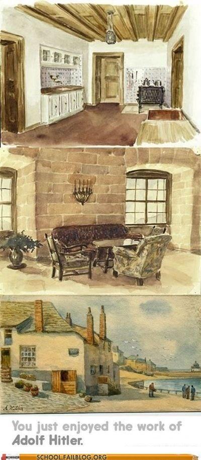 adolf hitler art history 505 i feel weird painting - 6219075072