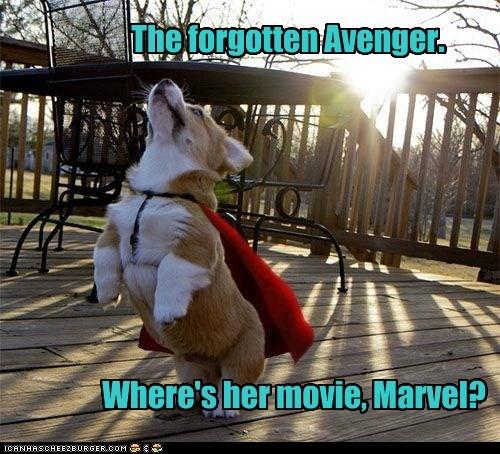 The forgotten Avenger. Where's her movie, Marvel?