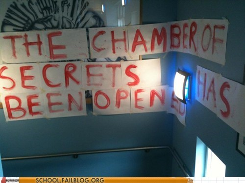 Harry Potter,high school,senior pranks,the chamber of secrets
