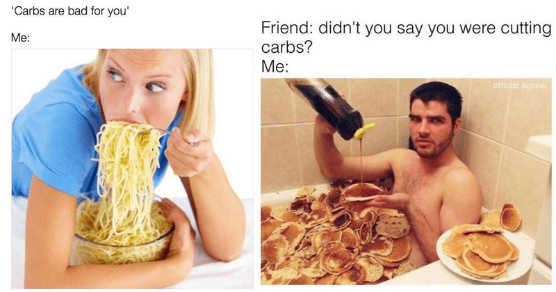 carbs pizza food memes pasta Memes food delicious cheese pizza carbohydrates - 6219525