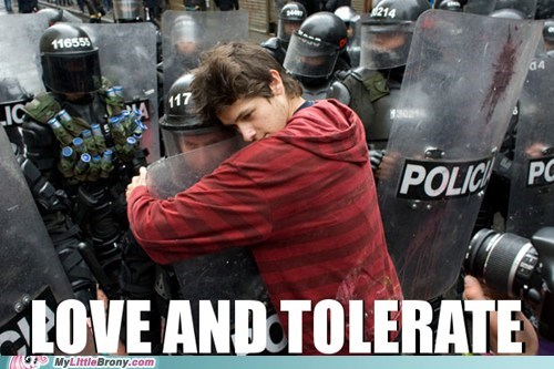 hugs,IRL,love and tolerate,police