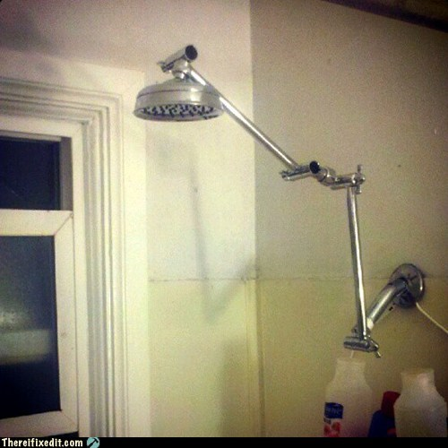 The Shower Showt Out to Tall People   There, I Fixed It   white