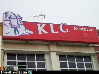 KLG OR OR KFC, ONLY IN MALAYSIA
