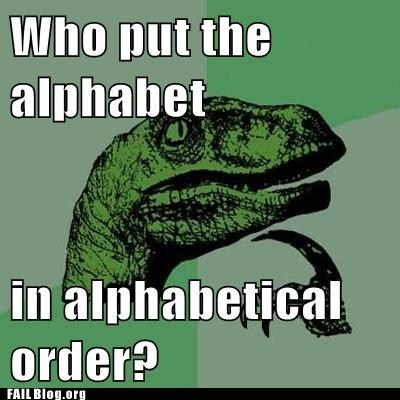 Who put the alphabet in alphabetical order?