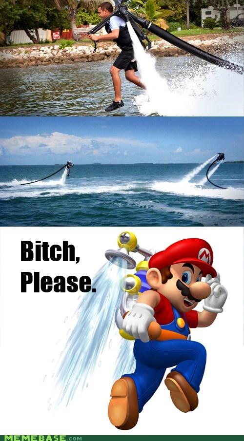 jetpack mario Memes squirt gun water - 6220499968
