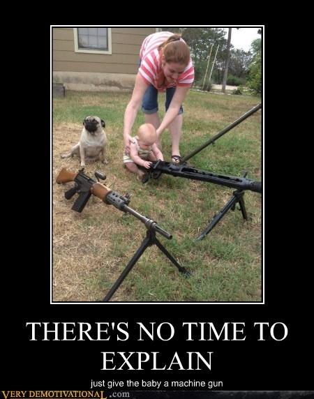 baby,explain,gun,hilarious