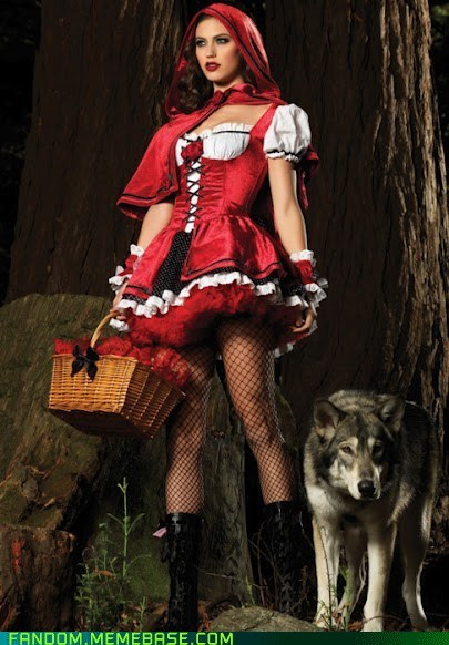 cosplay,Little Red Riding Hood,pretty ladies,wolf