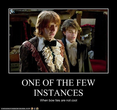 bowties,cool,Daniel Radcliffe,few,harry,Harry Potter,harry potter and the gobl,harry potter and the goblet of fire,instances,Ron Weasley,rupert grint