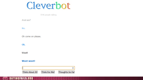 anal Cleverbot convincing i mean come on - 6222255104