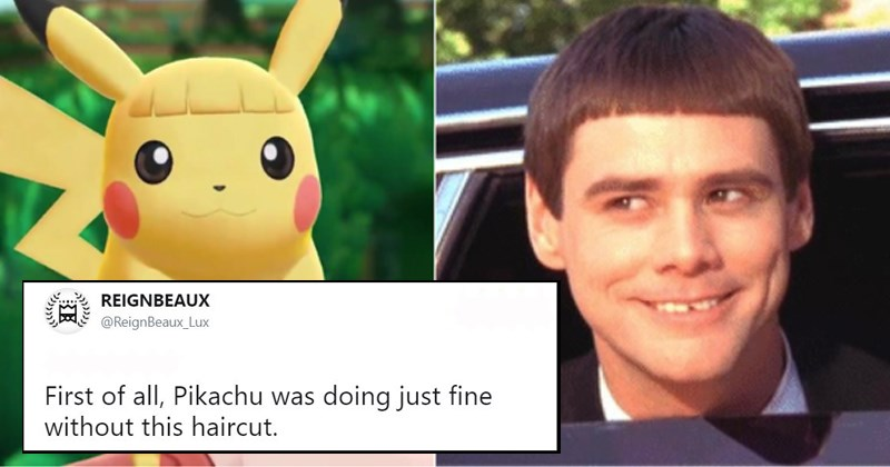 pokemon twitter pokemon memes Dumb and Dumber Pokémon stupid haircuts pokemon go pikachu haircuts beyoncé pokemon let's go pokemon tweets eevee pokemon haircuts pikachu funny tweets terrible bangs - 6222341
