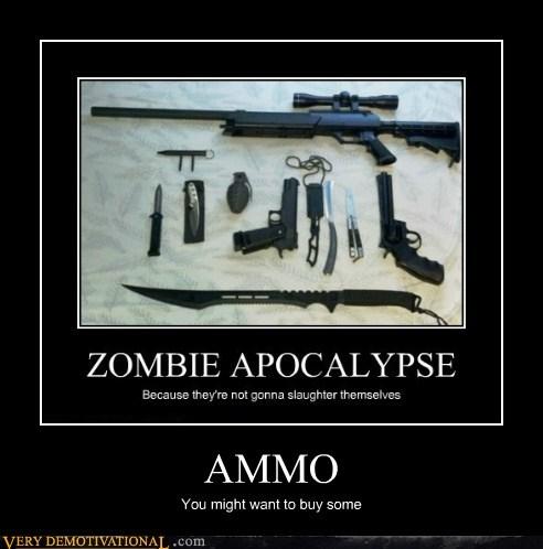 ammo,apocalypse,guns,hilarious,zombie