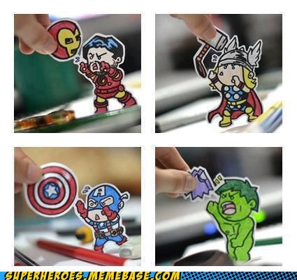 avengers Awesome Art captain america hulk iron man Thor - 6224022016