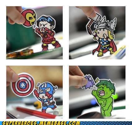 avengers Awesome Art captain america hulk iron man Thor - 6224022016
