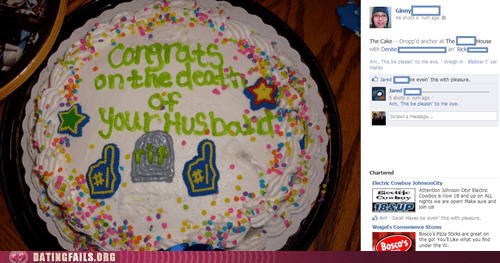 cakes for everything death of your husband morbid cake - 6224125440