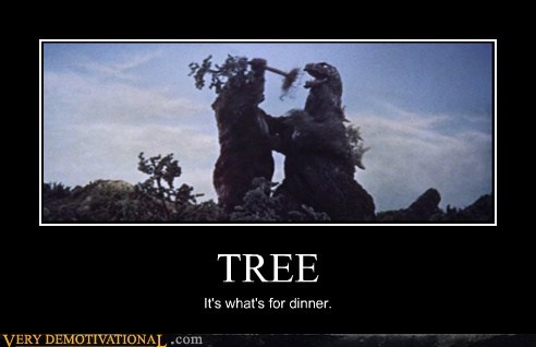 dinner,godzilla,hilarious,tree