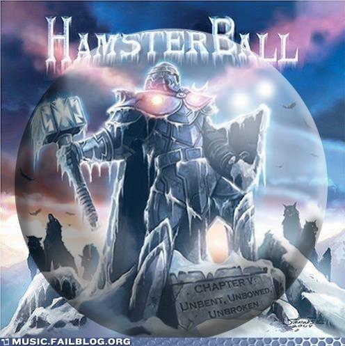 Hammerfall,hamster ball,hamsters,metal,pun