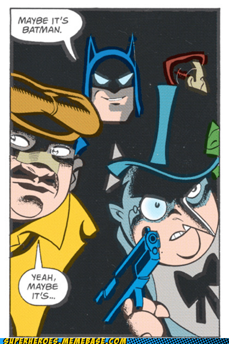 batman,penguin,Straight off the Page,troll