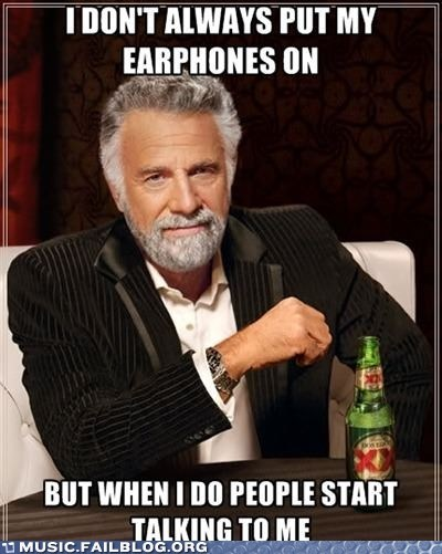 earphones headphones the most interesting man in the world