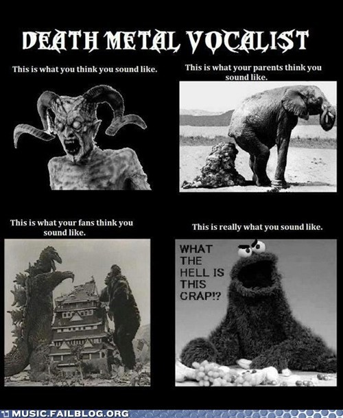 Cookie Monster,death metal,growl,metal,vocalist