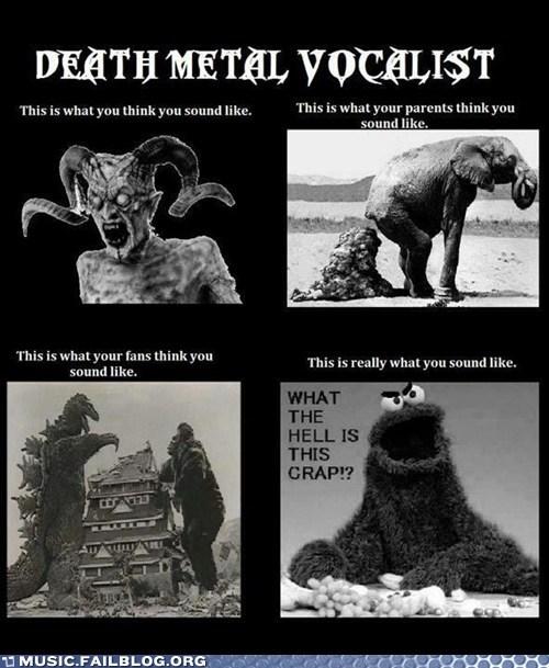 Cookie Monster death metal growl metal - 6224562944