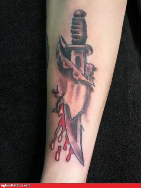 Blood knife skin Ugliest Tattoos - 6224583936