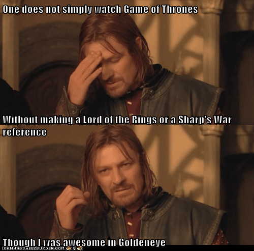 Boromir goldeneye Lord of The Ring Lord of the Rings movie references one does not simply meme past roles sean bean - 6224852736