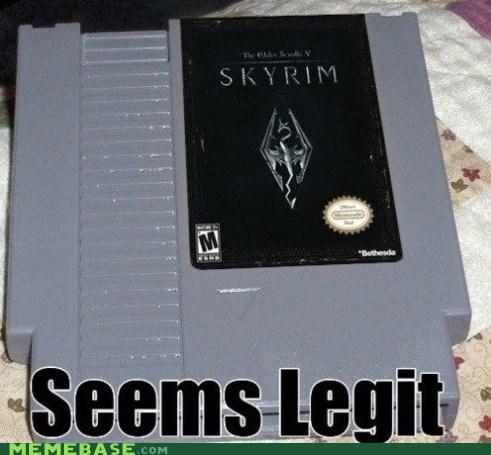 classic impossible NES nostalgia retro Skyrim video games - 6224954624