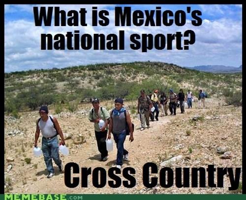 cross country jokes Memes mexico sport - 6225340160