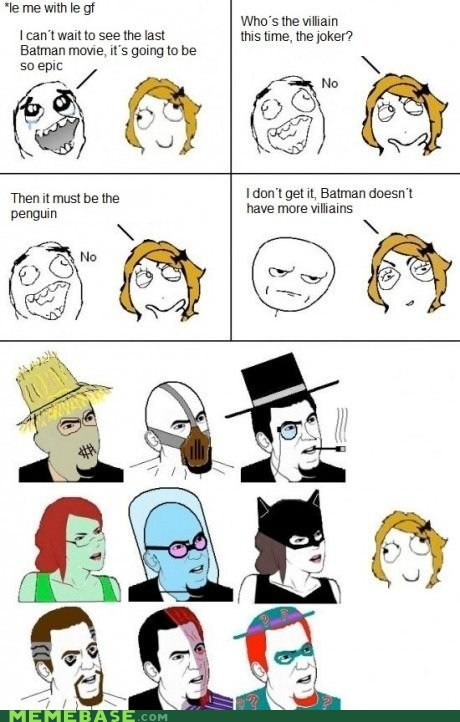 bane batman girlfriend idiot rage comic Super-Lols villains - 6225410048