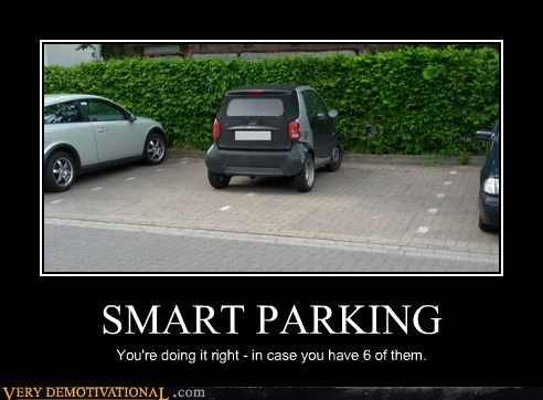 smart car idiots funny parking - 6225468928