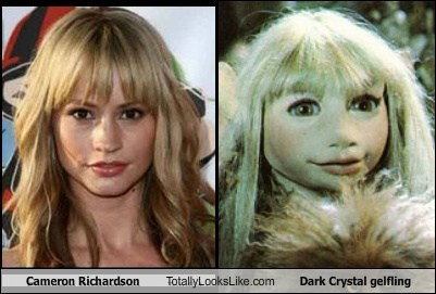 cameron richardson,dark crystal,funny,gelfling,Movie,TLL